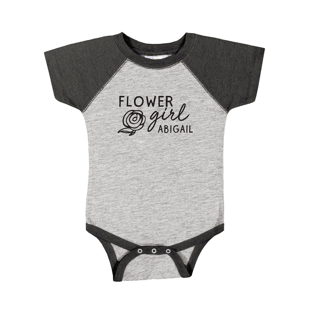 Personalized Baby Onesie - Flower Girl