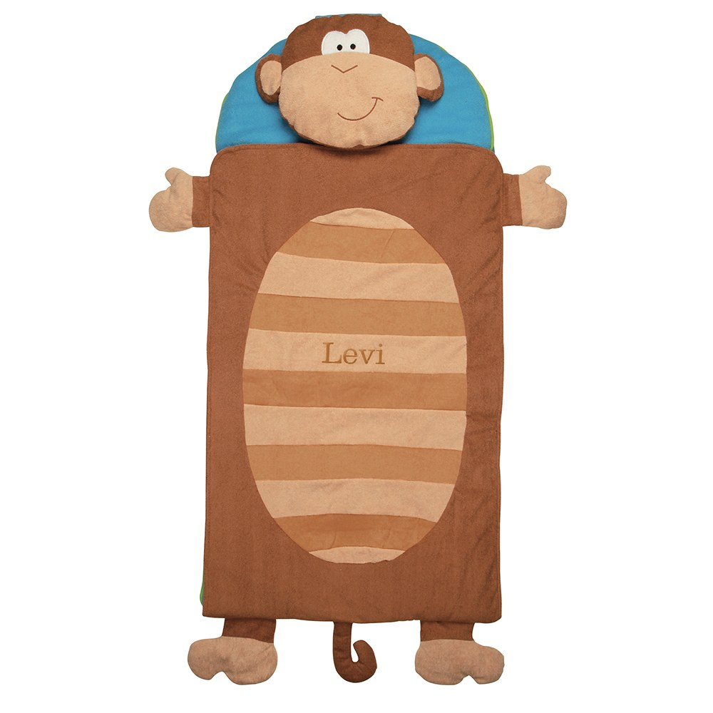Monkey Toddler Nap Mats Personalized Sleeping Mats The