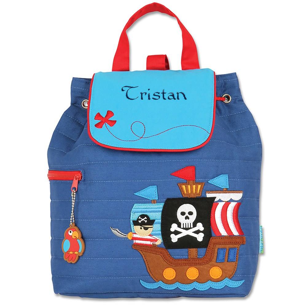 Personalized Quilted Toddler Backpack - Pirate