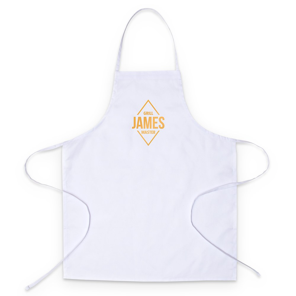 Adult's Personalized Chef Apron - Diamond Emblem