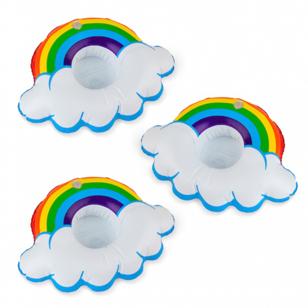 Small Inflatable Drink Floats - Rainbow - Set of 3