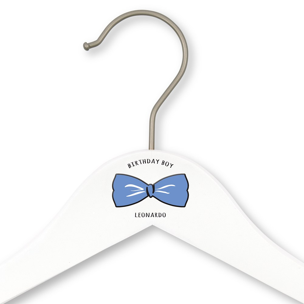Personalized Wooden Kids Hanger - Birthday Boy