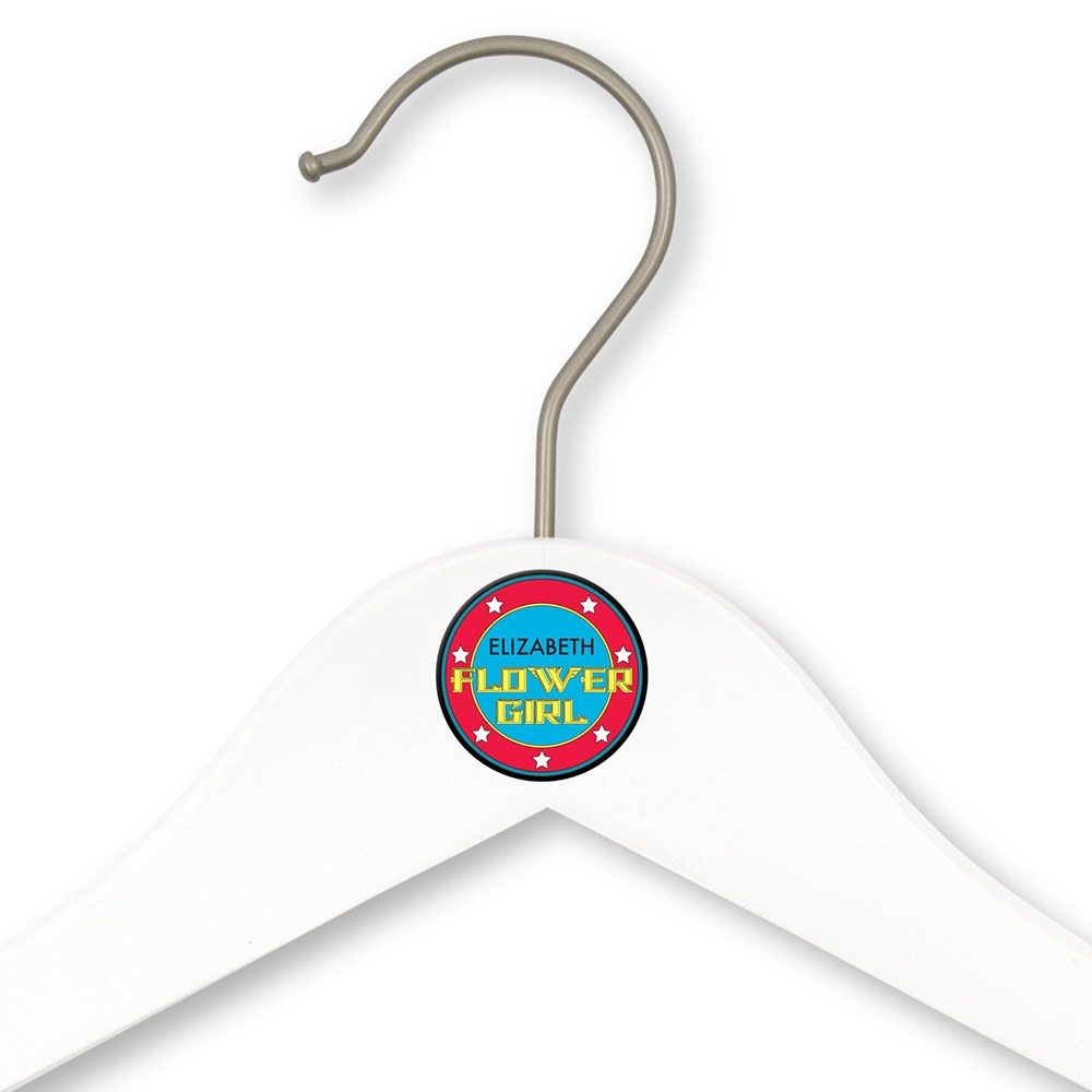 Personalized Flower Girl Hanger - Super Hero