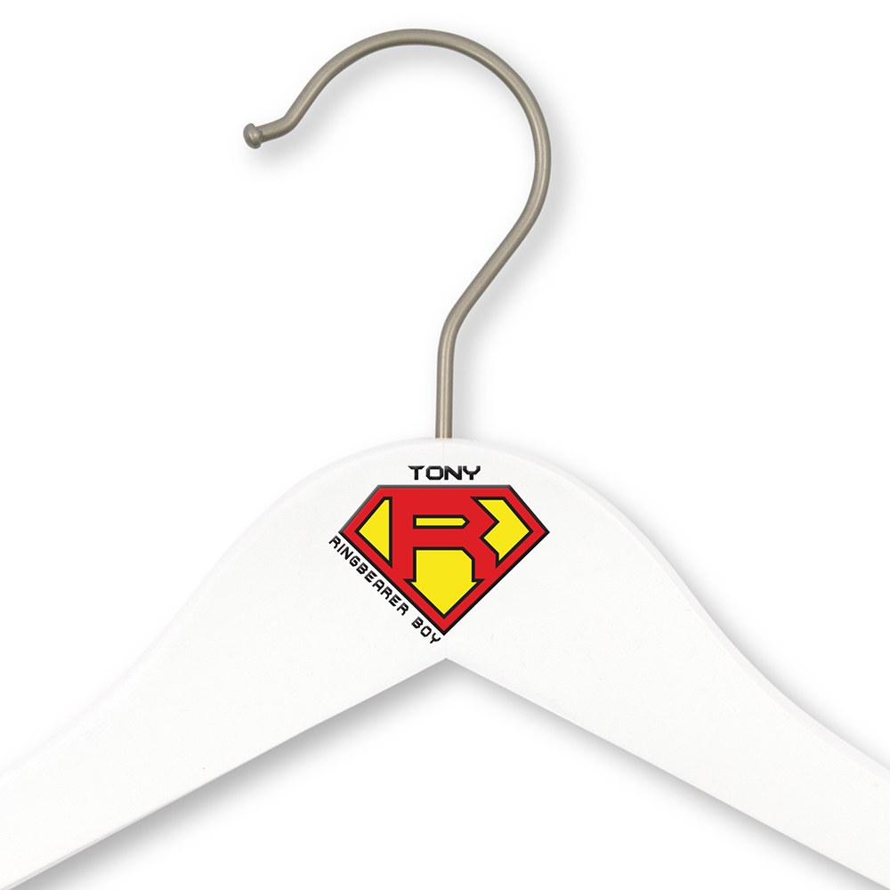 Personalized Ring Bearer Hanger - Super Hero
