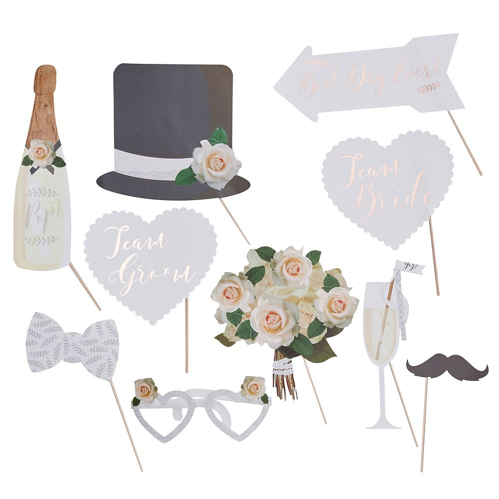 Wedding Photo Booth Props - Classic