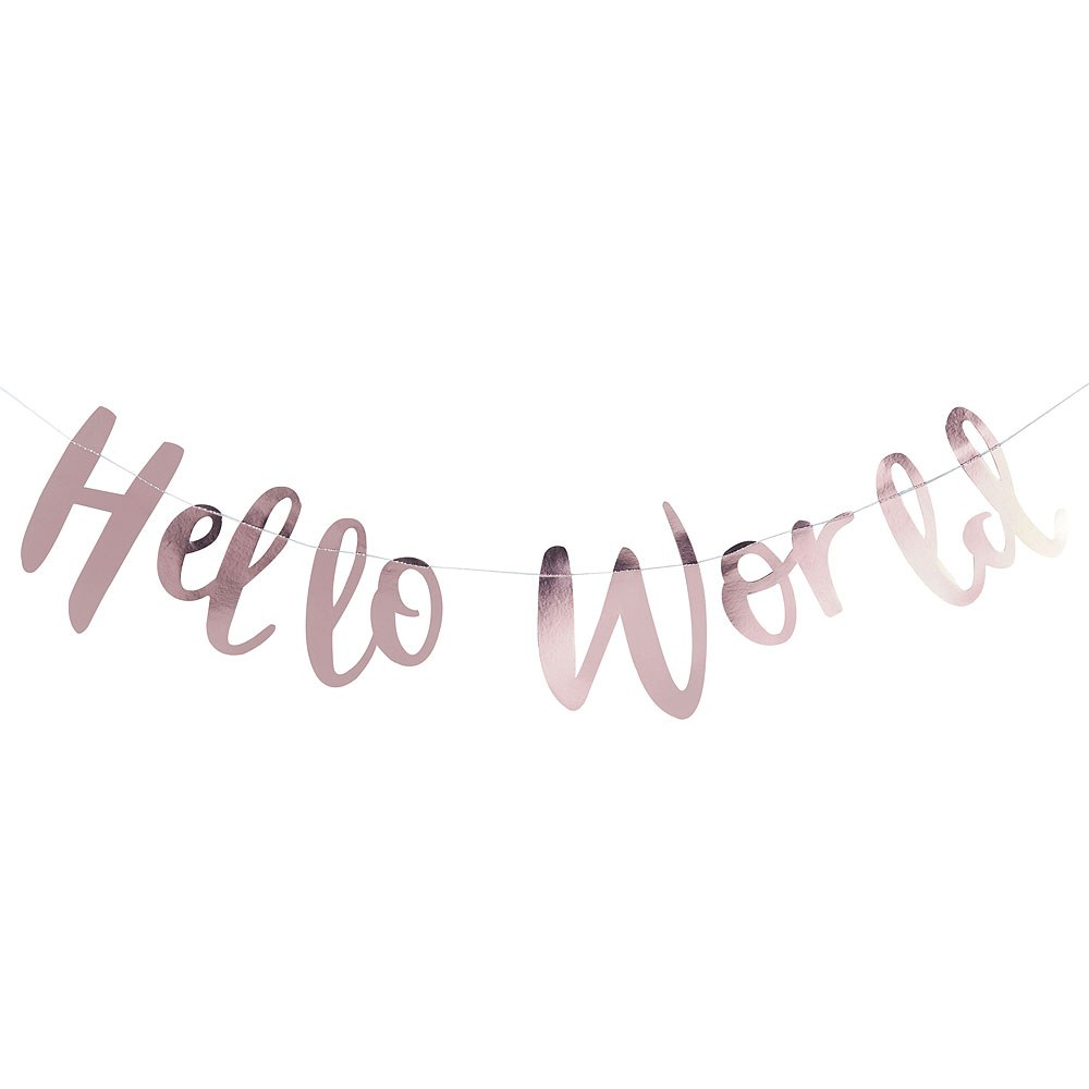 Hello World - Baby Shower Banner
