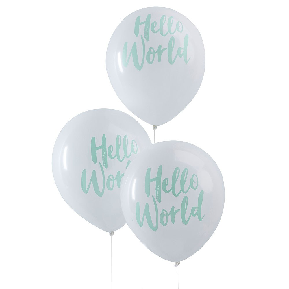Hello World - Baby Shower Balloons