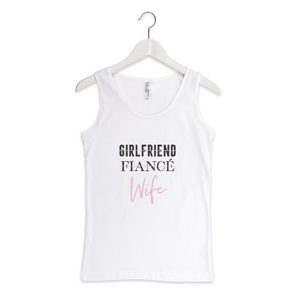 Personalized Bridal Party Wedding Tank Tops - Wife