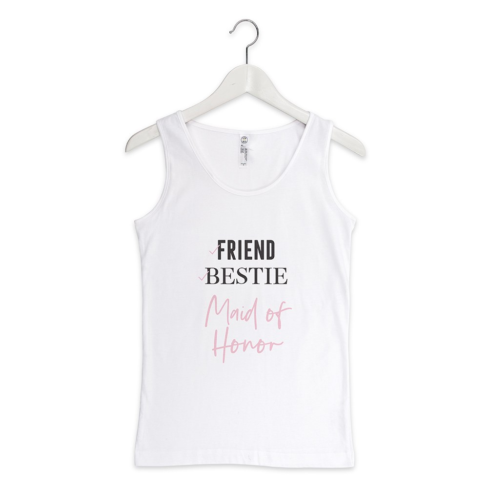 Personalized Bridal Party Wedding Tank Tops - Maid of Honor