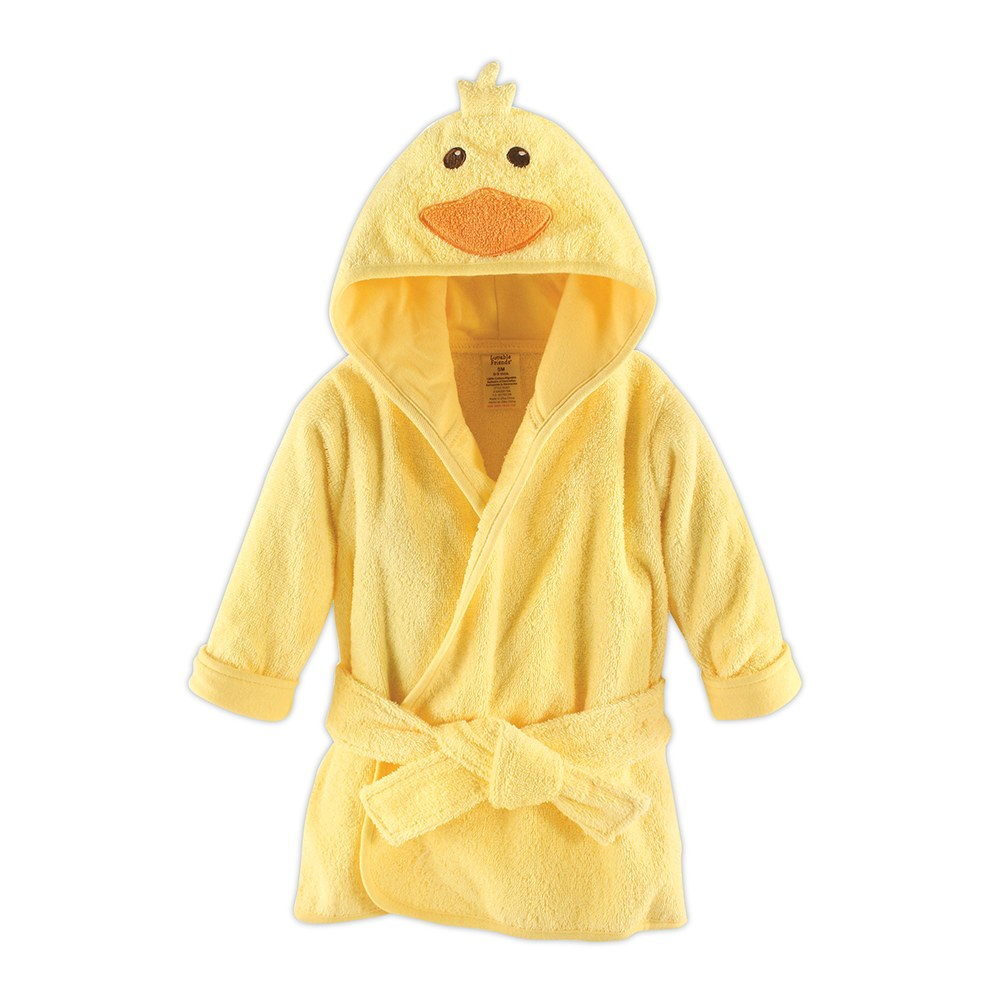 Animal Face Hooded Bathrobe - Yellow Duck