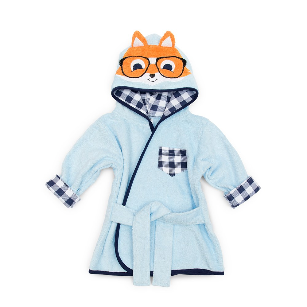 Animal Face Hooded Bathrobe - Hipster Fox