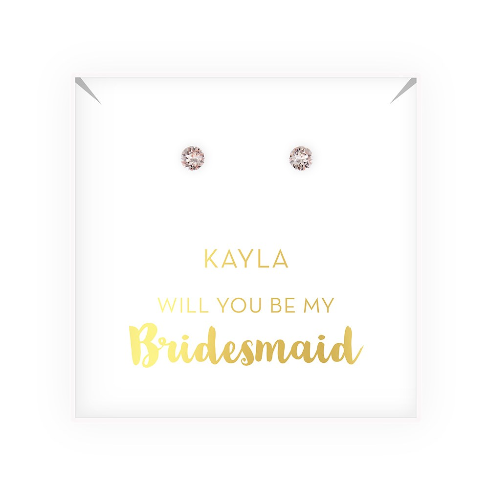 Swarovski Crystal or Pearl Stud Earrings - Be My Bridesmaid?