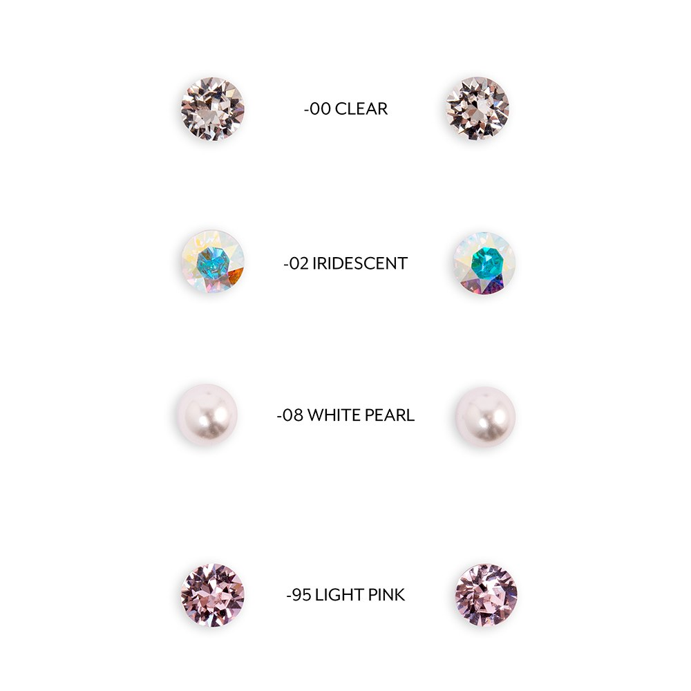 Swarovski Crystal or Pearl Stud Earrings - Flower Girl