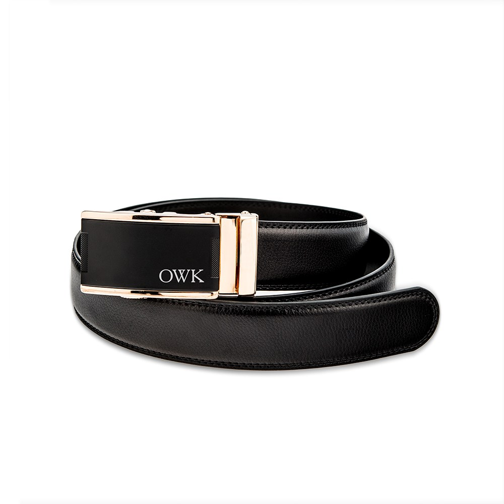 buckle belt men's leather custom gold