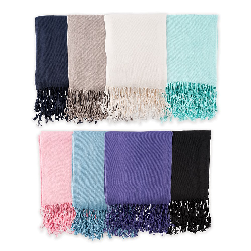 Womens Personalized Monogram Pashmina Scarf