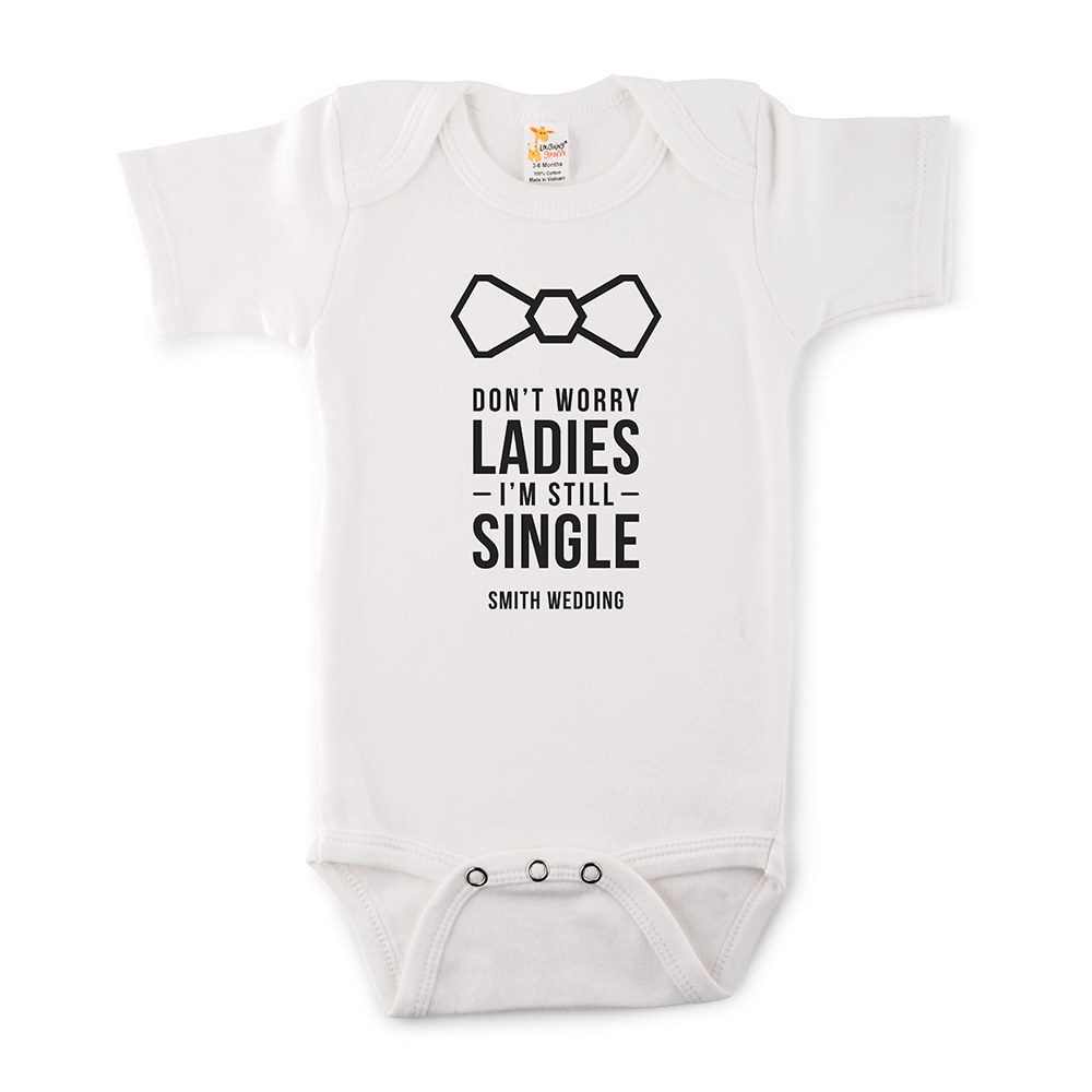 Cute Personalized White Baby Bodysuit - I'm Still Single