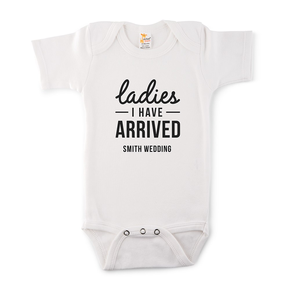 Cute Personalized White Baby Onesie - I Have Arrived