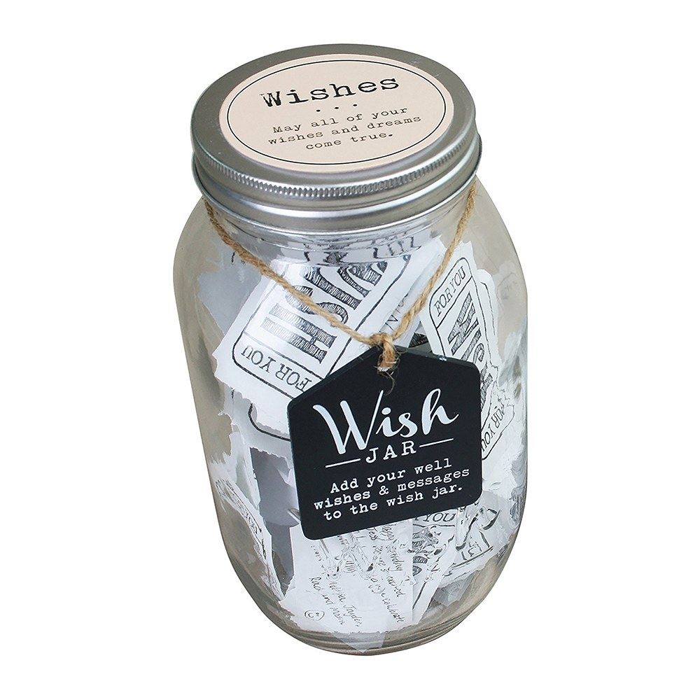 Wedding Wishes Mason Jar Guest Book