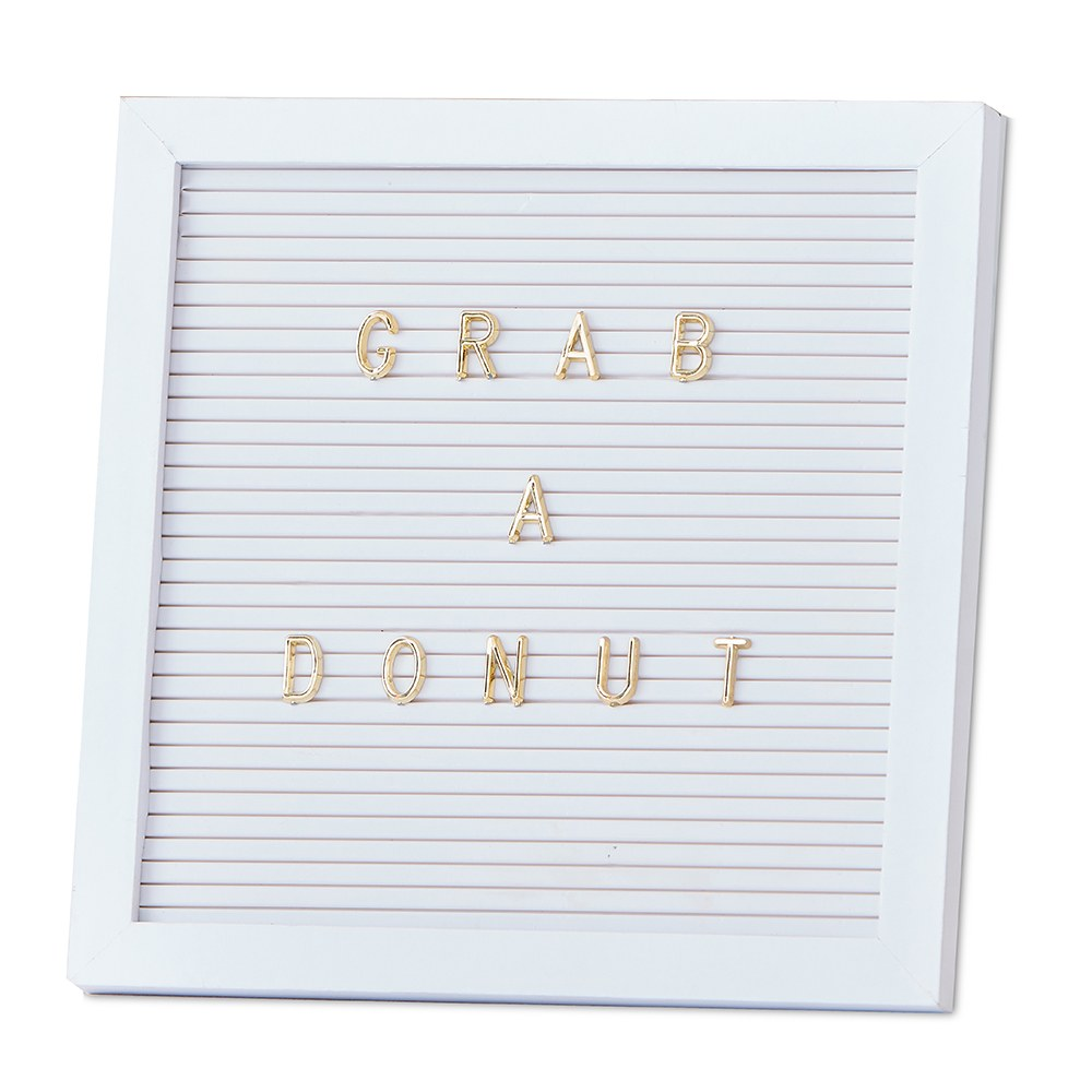 Peg Letter Board - White & Gold