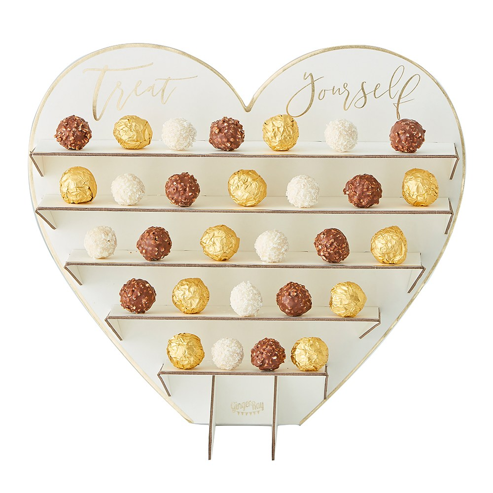 Chocolate Treat Stand - Treat Yourself Heart