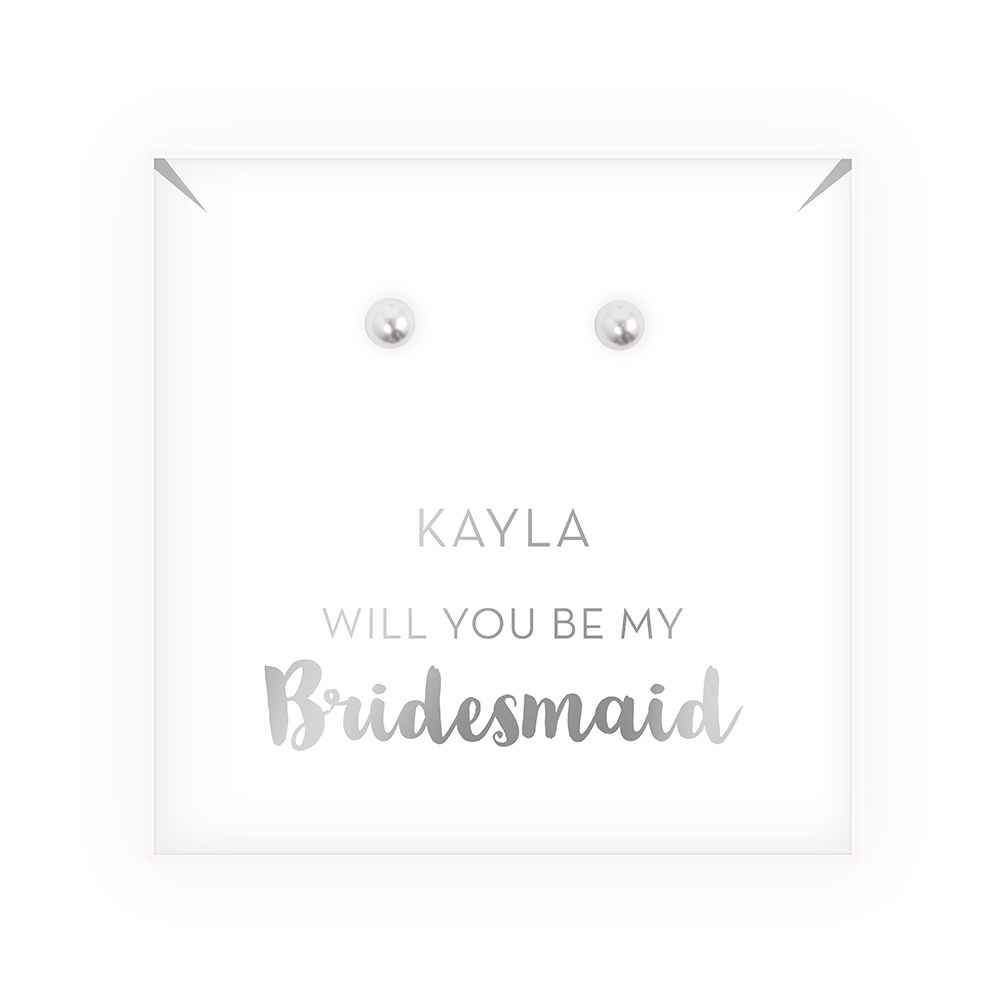 Swarovski Pearl Stud Earrings - Be My Bridesmaid?