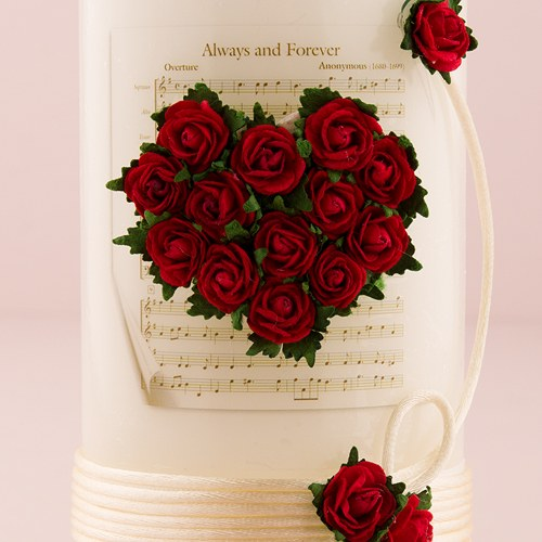 Flower of Love In Romantic Red Wedding Unity Candles