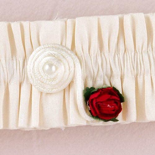 Flower of Love In Romantic Red Bridal Accessory Garter