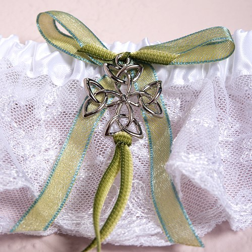Bridal Celtic Charm Wedding Garter