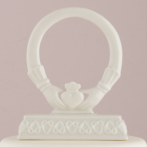Traditional Celtic Claddaugh Wedding Cake Topper