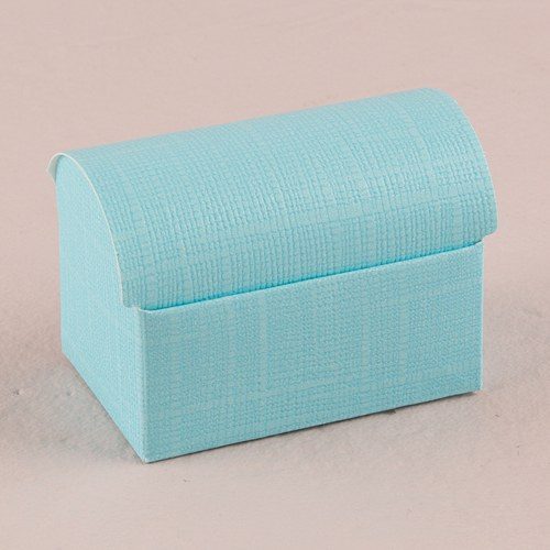 Aqua Wedding Favor Boxes : Seta celeste aqua blue favor boxes the knot