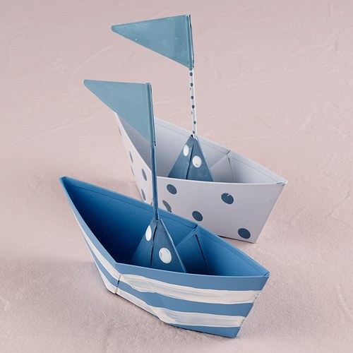 metal boats wedding favors
