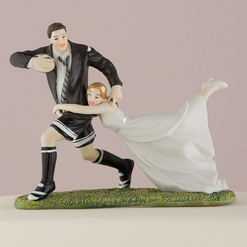 rugby wedding cake toppers tackle amp groom cake topper the knot shop 19468