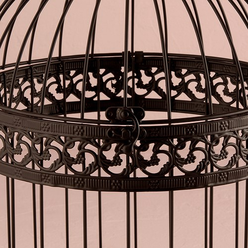 classic round decorative wedding birdcage - black