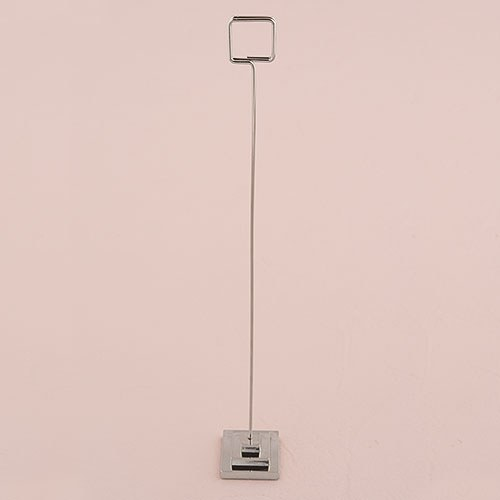 Stationary Holder with Tiered Base - Silver