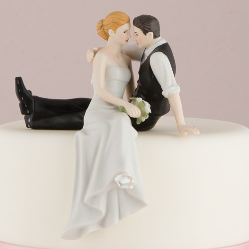 The Look Of Love Bride Amp Groom Cake Topper The Knot Shop
