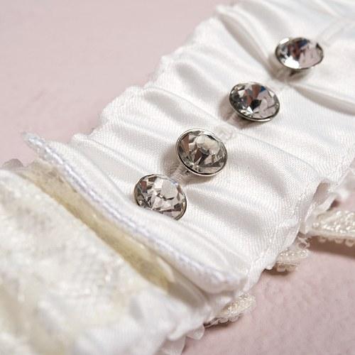 Glamor Garter Featuring Adjustable Crystal Buttons