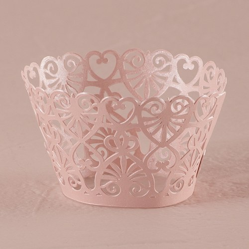 Lace Hearts Filigree Paper Laser Cupcake Wrappers