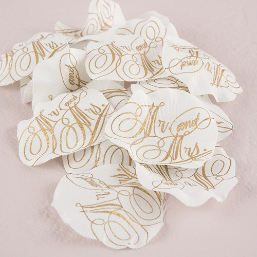 Mr and Mrs Love Letter Printed Silk Flower Petals