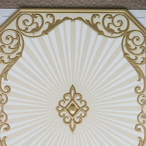 Art Deco Laser Embossed Accessory Cards with Personalization