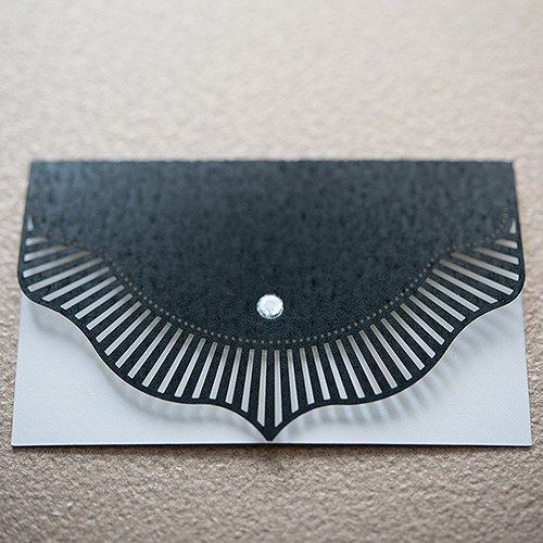 High Style in Black Laser Embossed Place Cards