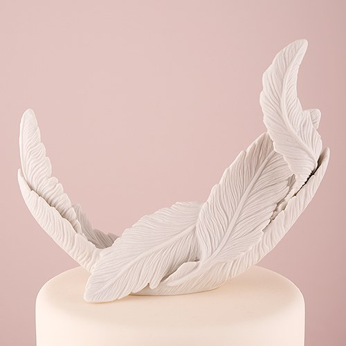feather wedding cake toppers white feather porcelain wedding cake topper weddingstar 14222