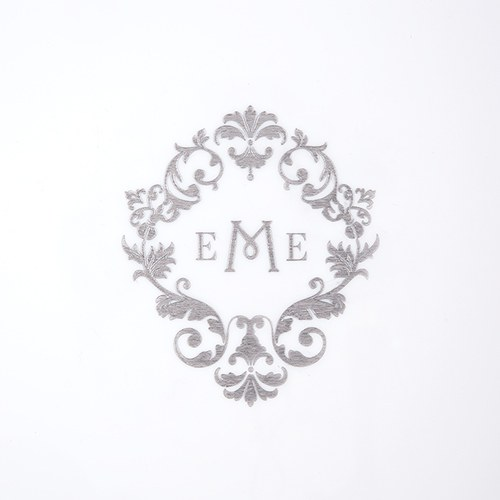 Monogram Simplicity Personalized Wedding Guest Book with White Acrylic Cover