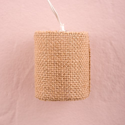 String of Lights with Natural Burlap Shades - Battery LED - The Knot Shop