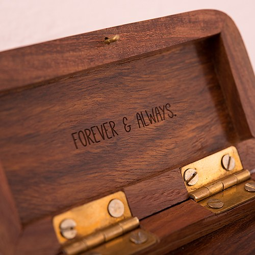 Small Personalized Wooden Ring Jewelry Box- Hand Written Monogram