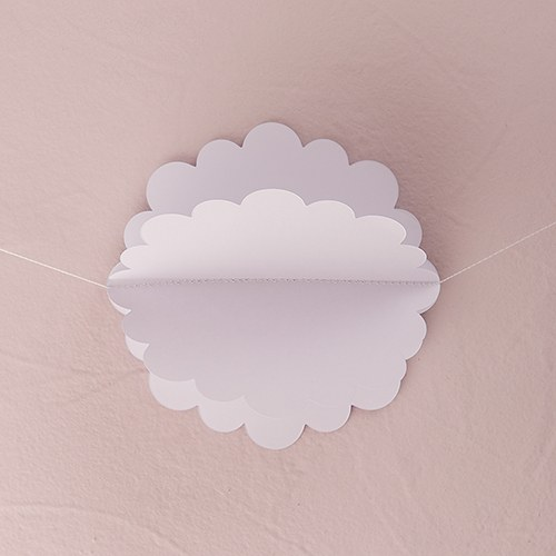 3D Floral White Paper Garland
