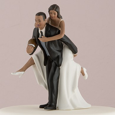 african american football wedding cake toppers football and groom cake topper the knot shop 10595