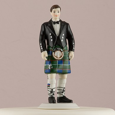 wedding cake toppers funny kilt groom in kilt figurine confetti co uk 26474