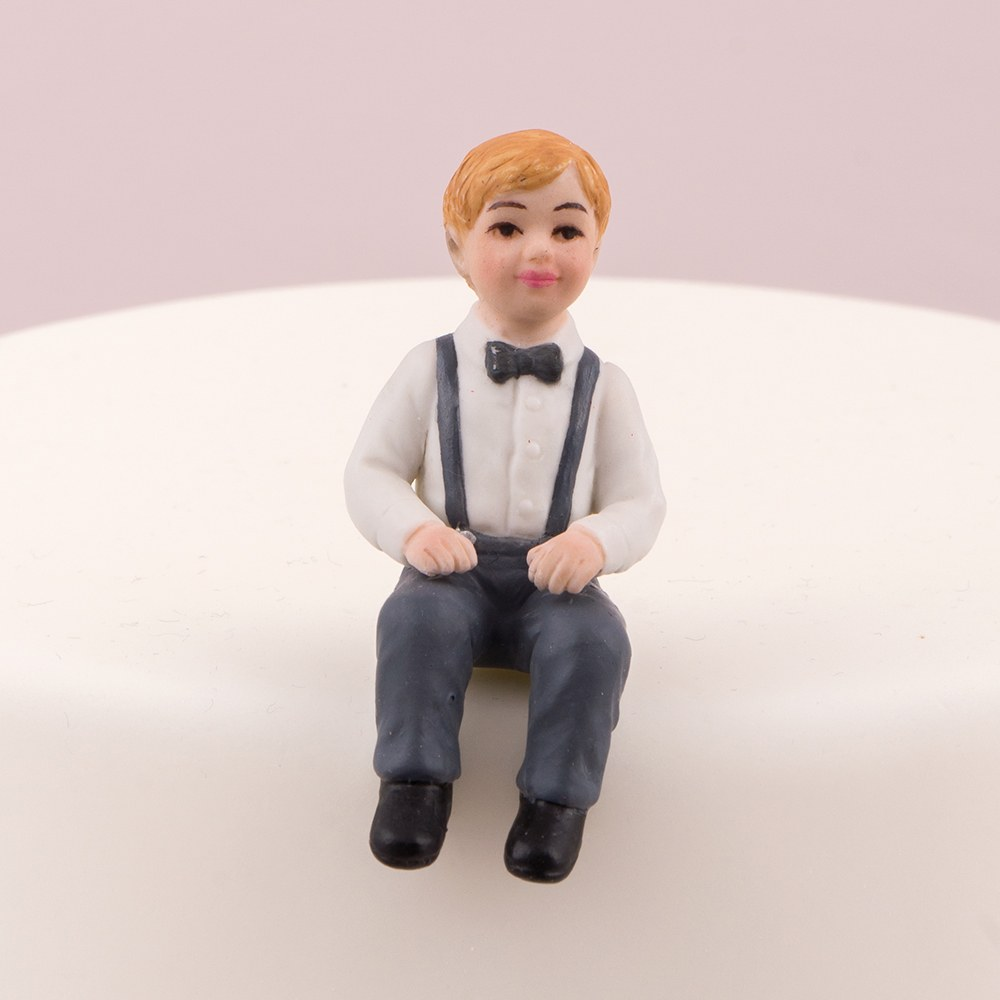Toddler Boy Porcelain Figurine Wedding Cake Topper