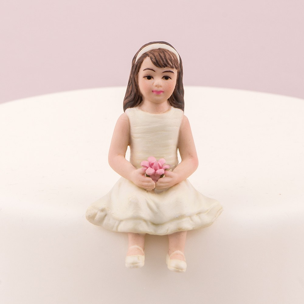 Toddler Girl Porcelain Figurine Wedding Cake Topper