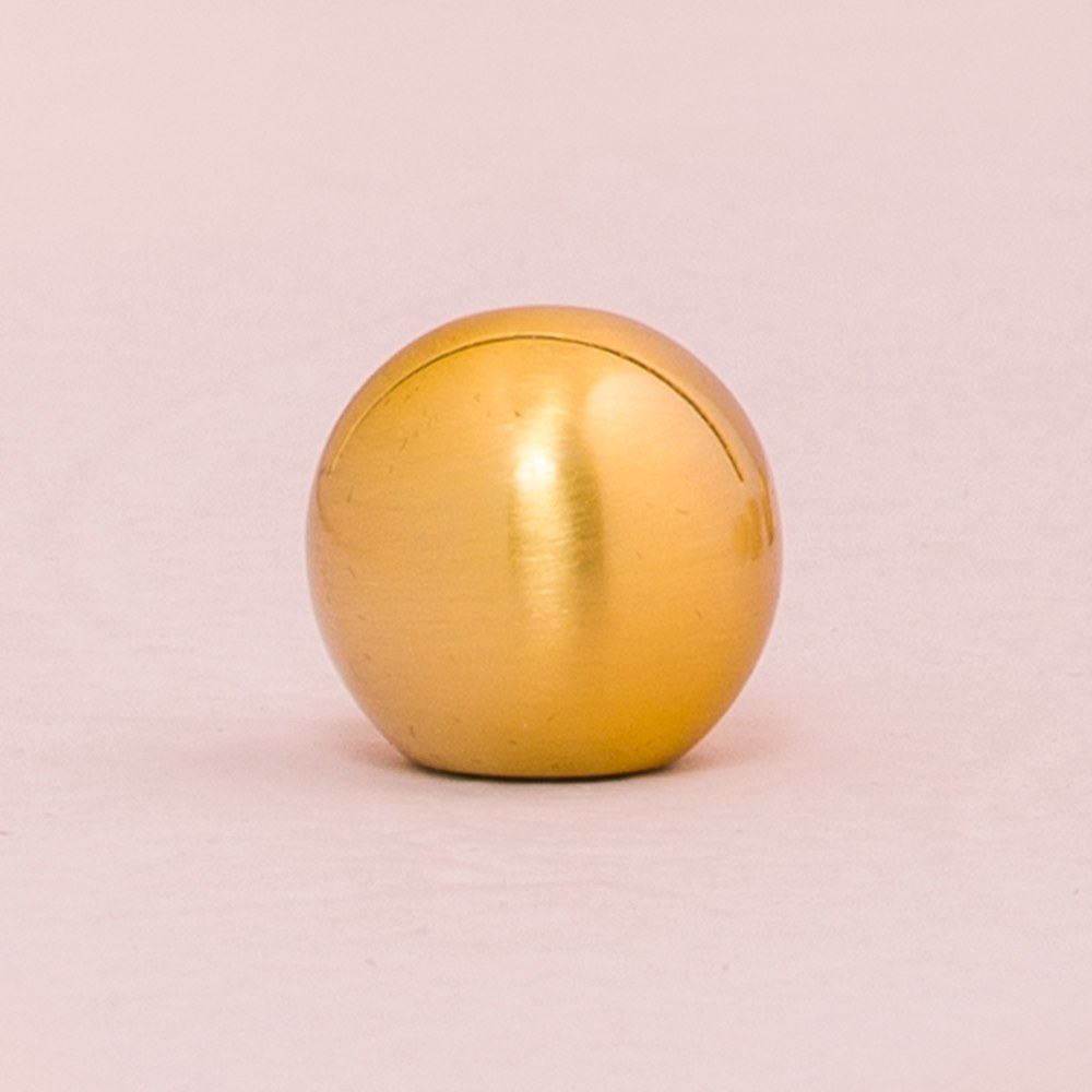 Round Brushed Gold Place Card Holder